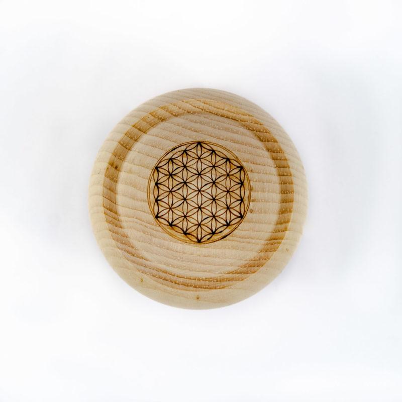 Produktbild Zirbenkugel 7cm reines Zirbenholz Draufsicht