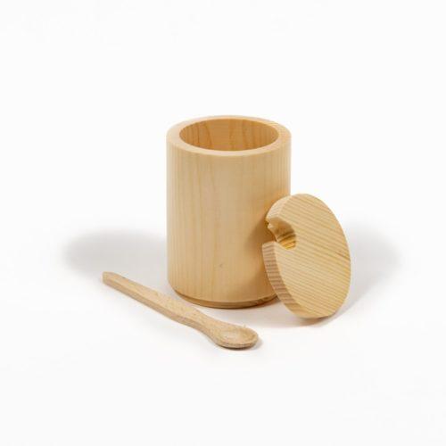 Vorratsdose aus reinem Zirbenholz offen